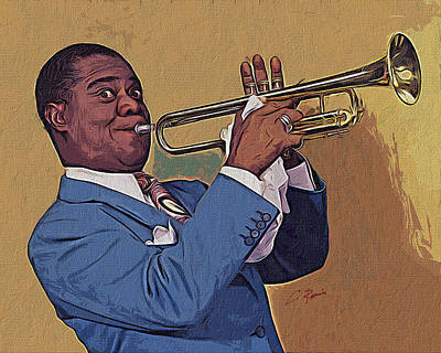 Digital Art - Satchmo by Charlie Roman
