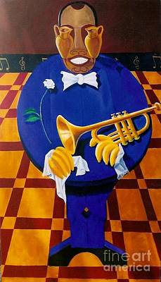 Painting - Satchmo by David G Wilson