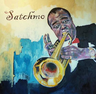 Painting - Satchmo by Kevin McKrell