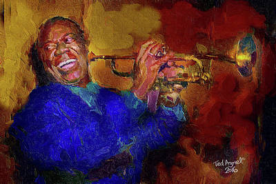 Painting - Satchmo by Ted Azriel