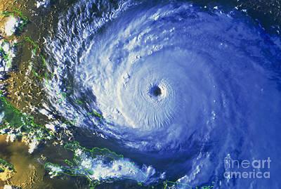 Noaa Photograph - Satellite Image Of Hurricane Floyd by NASA / Science Source
