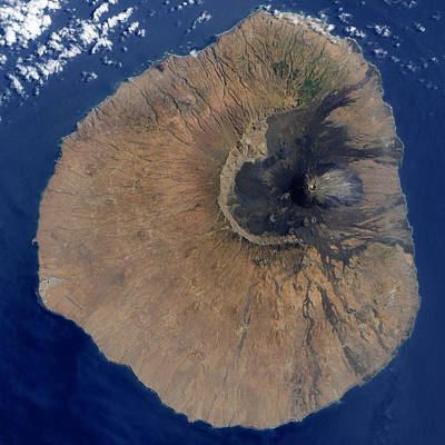 Photograph - Satellite Image Of Pico Do Fogo by Artistic Panda