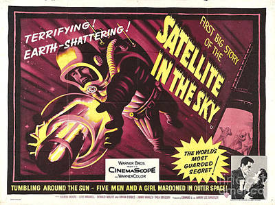 Painting - Satellite In The Sky Retro Movie Poster by R Muirhead Art