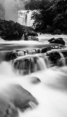 Photograph - Sathodi Falls In Black And White by Vishwanath Bhat