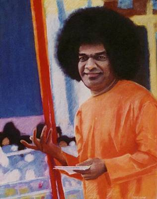 India Babas Mixed Media - Sathya Sai Baba by Craig Camp