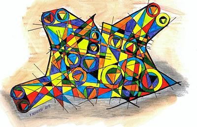 Drawing - Satilites 2 by Paul Meinerth