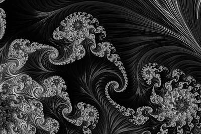 Digital Art - Satin And Lace Worn With Grace Black And White by Georgiana Romanovna