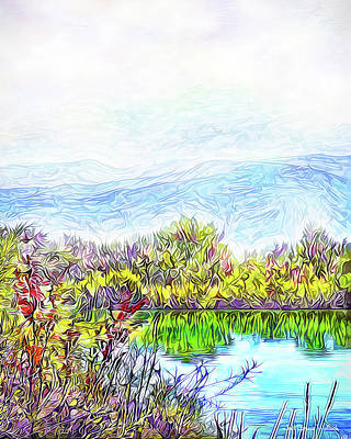 Digital Art - Satin Mist Over Lake - Boulder County Colorado by Joel Bruce Wallach