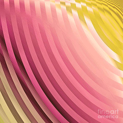 Royalty-Free and Rights-Managed Images - Satin Movements Coral by Mindy Sommers