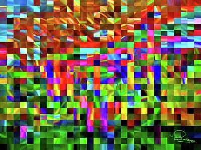 Digital Art - Satin Tiles by Ludwig Keck