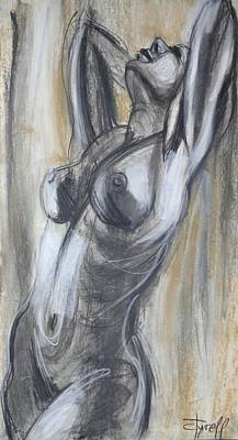 Satisfaction - Female Nude-cropped Original by Carmen Tyrrell