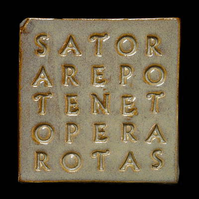 Ceramic Art - Sator Square Stone by Richard Reeve