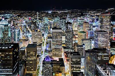 Photograph - Seattle Lights by Mihai Andritoiu
