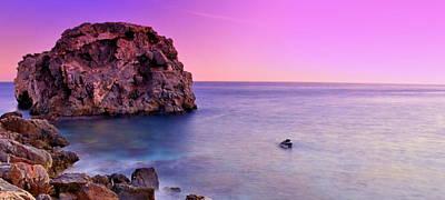 Saturated Beach Landscape In A Sunset Original