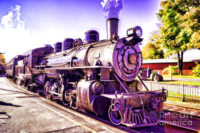 Western Art - Saturated Steam Train by Joe Geraci