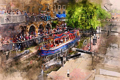 Digital Art - Saturday Afternoon At Camden Lock by Nicky Jameson