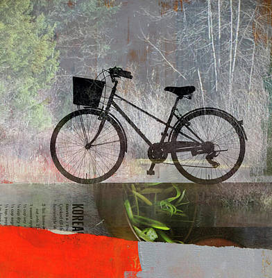 Digital Art - Saturday Bicycle by Nancy Merkle