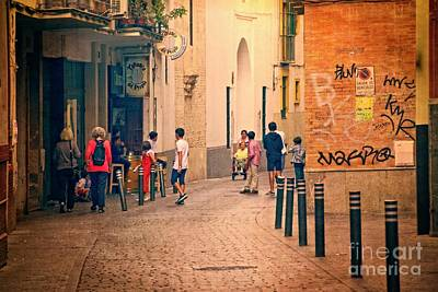 Photograph - Saturday Morning - Seville by Mary Machare
