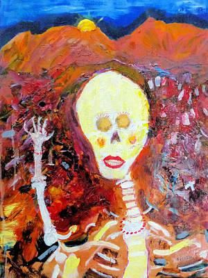 Painting - Saturday Night Date 2 by Rojo Chispas