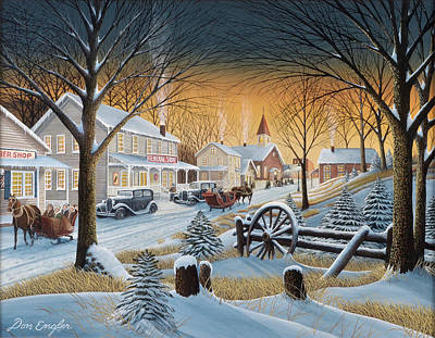 Painting - Saturday Night Downtown by Don Engler