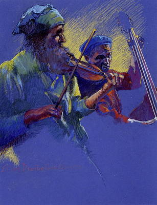 Violin Mixed Media - Saturday Night by Ellen Dreibelbis