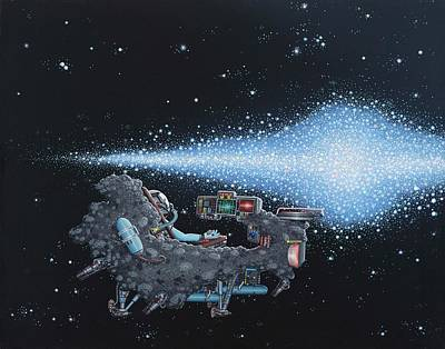 Spacescape Painting - Saturday Night by Jon Carroll Otterson