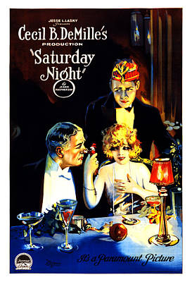 Mixed Media - Saturday Night - Movie Poster - Vintage Advertising Poster by Studio Grafiikka