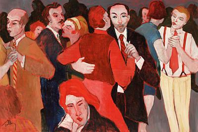 Painting - Saturday Night by Thomas Tribby