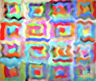 Lined Quilts Photograph - Saturday Quilting Muse by Gwyn Newcombe