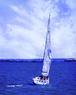 Photograph - Saturday Sailing Blues by Mike Braun
