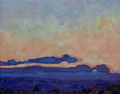 Painting - Saturday Stratocumulus Sunset by Phil Chadwick