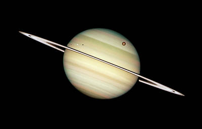 Photograph - Saturn And Moons by Weston Westmoreland
