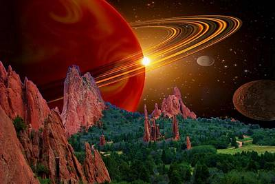 Photograph - Saturn In Garden Of The Gods Orange by Lanita Williams