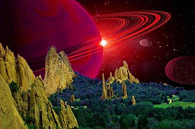 Photograph - Saturn In Garden Of The Gods Red Lg by Lanita Williams