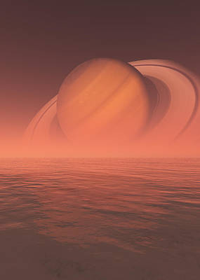 Digital Art - Saturn by Jay Salton