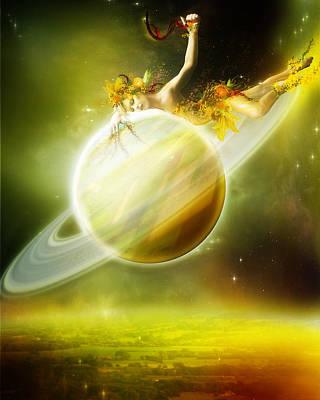 Saturn Digital Art - Saturn by Karen Koski
