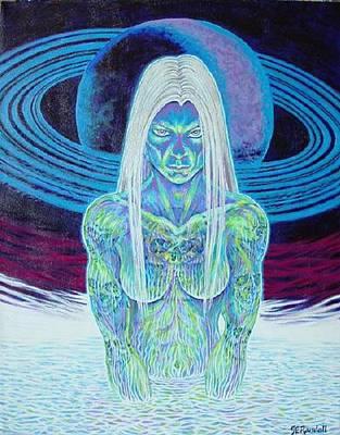 Goddess Painting - Saturn Sister by Jacki Randall