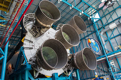 Photograph - Saturn V 500f S-ic-t First Stage by Suzanne Luft