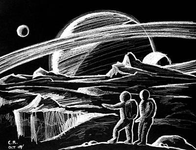 Saturn Visitors Art Print by Daniel House