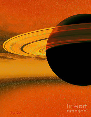 Planetary System Painting - Saturn's Rings by Corey Ford