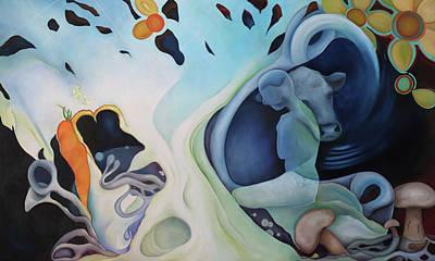 Ahimsa Painting - Satya Aur Ahimsa by Cindy Jane