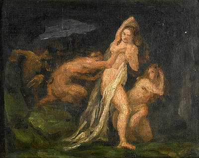 Nymphs And Satyr Painting - Satyrs And Nymphs by Paul Cezanne