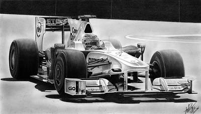 Formula One Drawing - Sauber Bmw F1 by Lyle Brown