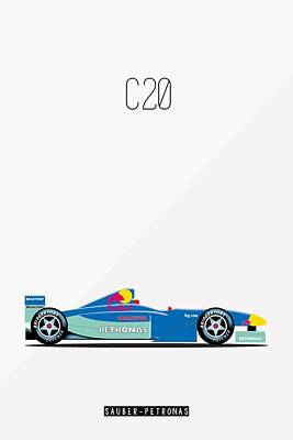 Painting - Sauber Petronas C20 F1 Poster by Beautify My Walls