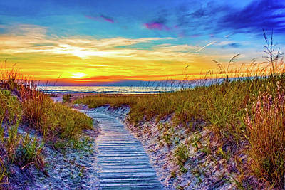 Sauble Photograph - Sauble Beach - Dune Path by Steve Harrington