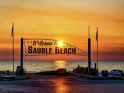 Sauble Photograph - Sauble Beach Sunset 2 by Steve Harrington