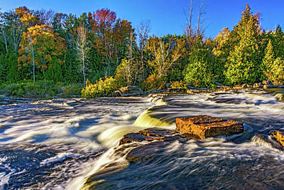 Sauble Photograph - Sauble Falls Autumn Evening 5 by Steve Harrington