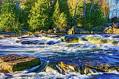 Sauble Photograph - Sauble Falls Autumn Evening 7 by Steve Harrington