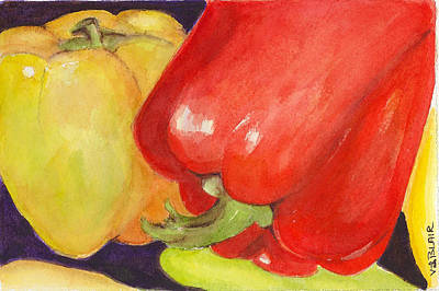 Saucey Peppers Art Print by Vickie Blair