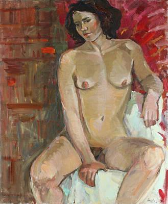 Painting - Saucy Brunette by Juliya Zhukova